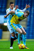 Rotherham United's Michael Smith shields the ball from Blackburn Rovers' Jack Rodwell<br /> <br /> Photographer Alex Dodd/CameraSport<br /> <br /> The EFL Sky Bet Championship - Blackburn Rovers v Rotherham United - Saturday 10th November 2018 - Ewood Park - Blackburn<br /> <br /> World Copyright &copy; 2018 CameraSport. All rights reserved. 43 Linden Ave. Countesthorpe. Leicester. England. LE8 5PG - Tel: +44 (0) 116 277 4147 - admin@camerasport.com - www.camerasport.com