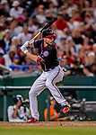 21 September 2018: Washington Nationals shortstop Trea Turner in action against the New York Mets at Nationals Park in Washington, DC. The Mets defeated the Nationals 4-2 in the second game of their 4-game series. Mandatory Credit: Ed Wolfstein Photo *** RAW (NEF) Image File Available ***