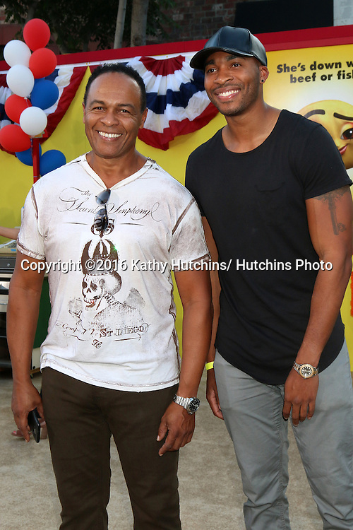 """LOS ANGELES - AUG 9:  Ray Parker Jr, son at the """"Sausage Party"""" Premiere at the Village Theater on August 9, 2016 in Westwood, CA"""