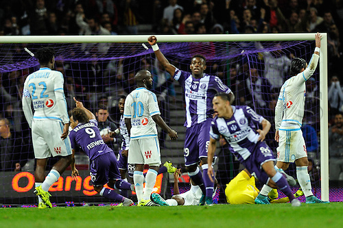23.09.2015. Toulouse, France. French League 1 football. Toulouse versus Marseille.  Goal scored by Martin Braithwaite (tfc)