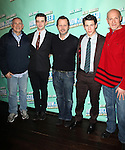 Craig Zadan, Michael Urie, Rob Ashford, Nick Jonas & Neil Meron.attending the after party celebrating Nick Jonas & Michael Urie joining Beau Bridges in 'How To Succeed in Business...' at the Glass House Tavern in New York City on 1/24/2012