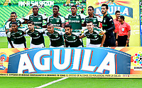PALMIRA - COLOMBIA, 23-09-2018: Los jugadores de Deportivo Cali, posan para una foto, antes de partido de la fecha 11 entre Deportivo Cali y Deportes Tolima, por la Liga Aguila II 2018, jugado en el estadio Deportivo Cali (Palmaseca) de la ciudad de Cali. / The players of Deportivo Cali, pose for a photo, prior a match of the date 11th between Deportivo Cali and Deportes Tolima, for the Liga Aguila II 2018 at the Deportivo Cali (Palmaseca) stadium in Cali city. Photo: VizzorImage  / Nelson Rios / Cont.
