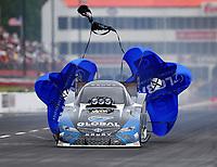 May 5, 2018; Commerce, GA, USA; NHRA funny car driver Shawn Langdon during qualifying for the Southern Nationals at Atlanta Dragway. Mandatory Credit: Mark J. Rebilas-USA TODAY Sports