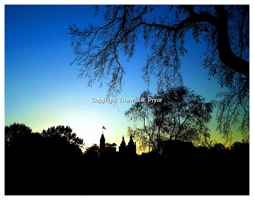 NEW YORK, NY - NOVEMBER 8: Central Park Castle at Twilight on November 8, 2011 in New York, New York. Photo Credit: Thomas R. Pryor