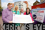 CHEQUE THIS OUT! Dan Horan and Sandra Breen from Horan's Stores donated ?2,230, proceeds from a table quiz, to Sean Prendergast and Mary Lynch from Kerry Cancer Support.
