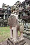 Angkor Wat Lion Statue