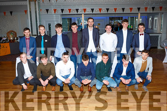 The Dr Crokes Junior team that won the Molyneaux Cup and the, O'Sullivan cup and the East Kerry Junior League received their medals  at the Dr Crokes GAA social in the Dromhall Hotel on Friday night