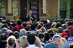 May 4, 2008. Newton, NC.. Just 2 days before the North Carolina primary, former president Bill Clinton campaigned across rural western North Carolina, stumping for his wife. Senator Hillary Clinton, in her drive for rural and working class votes.. Clinton spoke to a crowd of a few hundred at a private residence in Newton.