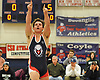 Joseph Libretti of Cold Spring Harbor reacts after his win at 195 pounds in the Nassau County Division II varsity wrestling finals at Cold Spring Harbor High School on Saturday, Feb. 10, 2018.