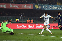 Ivan Perisic of Internazionale scores his side first goal during the Serie A 2018/2019 football match between Chievo Verona and Inter at stadio Bentegodi, Verona, December 22, 2018 <br />  Foto Daniele Buffa / Image Sport / Insidefoto
