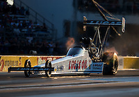 Oct 14, 2016; Ennis, TX, USA; NHRA top fuel driver Richie Crampton during qualifying for the Fall Nationals at Texas Motorplex. Mandatory Credit: Mark J. Rebilas-USA TODAY Sports