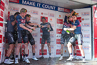 Picture by Alex Whitehead/SWpix.com - 14/05/2017 - Cycling - 2017 HSBC UK | Spring Cup Road Series - Lincoln Grand Prix - JLT Condor celebrate.
