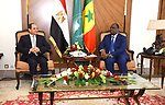 Egyptian President Abdel-Fattah al-Sissi meets with Senegalese President Macky Sall, in Dakar, Senegal, April 12, 2019. Photo by Egyptian President Office