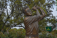 The Tom Kite statue adjacent to the 10th tee follwoing day 5 of the World Golf Championships, Dell Match Play, Austin Country Club, Austin, Texas. 3/25/2018.<br /> Picture: Golffile | Ken Murray<br /> <br /> <br /> All photo usage must carry mandatory copyright credit (© Golffile | Ken Murray)