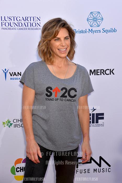 SANTA MONICA, CA. September 07, 2018: Jillian Michaels at the 2018 Stand Up To Cancer fundraiser at Barker Hangar, Santa Monica Airport.