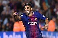 BARCELONA, 09-09-2017. LaLiga 2017/ 2018, date 3. FC Barcelona - RCD Espanyol. Luis Suarez of FC Barcelona celebrates his goal. Foto Sergio Ruiz/ProShots/Insidefoto
