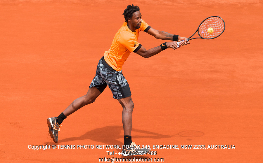 GAEL MONFILS (FRA)<br /> <br /> TENNIS - FRENCH OPEN - ROLAND GARROS - ATP - WTA - ITF - GRAND SLAM - CHAMPIONSHIPS - PARIS - FRANCE - 2017  <br /> <br /> <br /> <br /> &copy; TENNIS PHOTO NETWORK