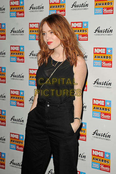 LONDON, ENGLAND - FEBRUARY 18: Angela Scanlon attending the NME Awards at Brixton Academy on February 18 2015 in London, England.<br /> CAP/MAR<br /> &copy; Martin Harris/Capital Pictures