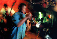 Jazz at the Velvet Lounge with the Maurice Brown Quartet:   Maurice Brown on trumpet;  Dennis Winslett, sax; Kobie Watkins, drums; Mauricio Rodriguez, guitar; Shourin Sen, bass