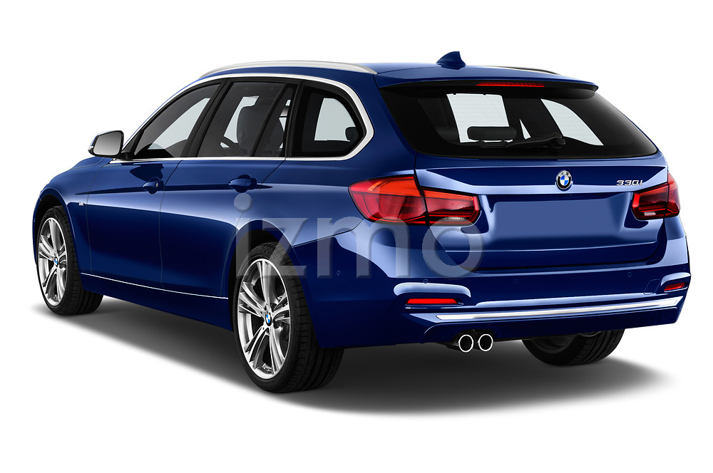 Car pictures of rear three quarter view of a 2017 BMW 3 Series Touring Luxury 5 Door Wagon angular rear