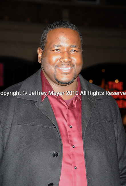 """HOLLYWOOD, CA. - January 11: Quinton Aaron attends the """"The Book Of Eli"""" Los Angeles Premiere at Grauman's Chinese Theatre on January 11, 2010 in Hollywood, California."""