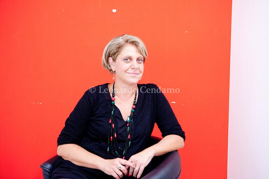 Paola Caridi studied at La Sapienza Università di Roma, Facoltà di Lettere, lives in Sambuca di Sicilia and is from Rome. Mantova, settembre 2013. © Leonardo Cendamo