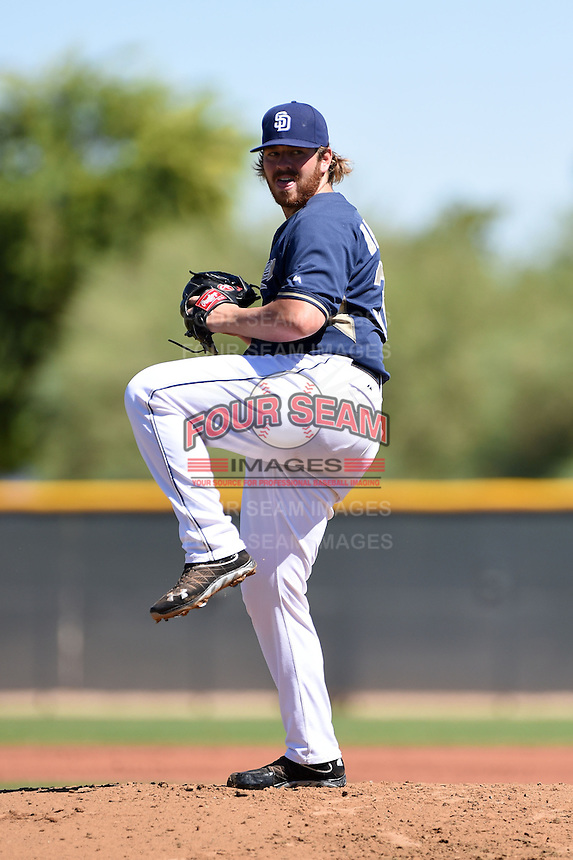 San Diego Padres pitcher Johnny Barbato (38) during an Instructional League game against the Kansas City Royals on October 2, 2014 at Surprise Stadium Training Complex in Surprise, Arizona.  (Mike Janes/Four Seam Images)