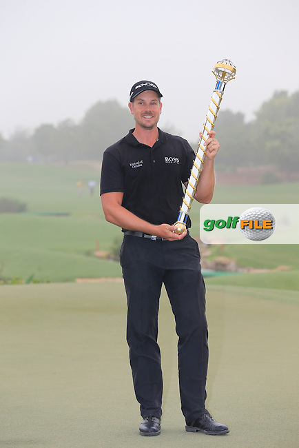 Henrik STENSON (SWE) after winning the DP World, Tour Championship, Dubai, UAE.<br /> Picture: Fran Caffrey www.golffile.ie