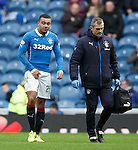 Remie Streete goes off with a groin injury