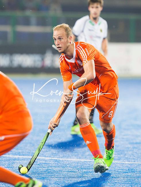 RAIPUR (India) .  Billy Bakker (Ned)   tijdens de  poulewedstrijd tussen  de mannen van Nederland en Duitsland in het  Hockey World League Finale toernooi .  COPYRIGHT  KOEN SUYK