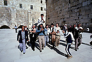 Jerusalem, Israel, November, 1980. Bar Mitzvah ceremony.