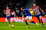 Mikel Balenziaga Oruesagasti of Athletic de Bilbao (L) is tackled by Diego Roberto Godin Leal of Atletico de Madrid (R) during the La Liga 2018-19 match between Atletico de Madrid and Athletic de Bilbao at Wanda Metropolitano, on November 10 2018 in Madrid, Spain. Photo by Diego Gouto / Power Sport Images