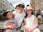 Ruth and Eoin Anderson with Cara Mulroy enjoying the Music at The Gate. Photo:Colin Bell/pressphotos.ie