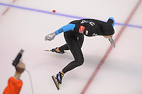 SCHAATSEN: CALGARY: Olympic Oval, 09-11-2013, Essent ISU World Cup, 500m, Heather Richardson (USA), ©foto Martin de Jong