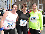 Claire Callinan, Catriona Hoey and Ciara Kerrigan who took part in the Boyne 10K run. Photo: Colin Bell/pressphotos.ie