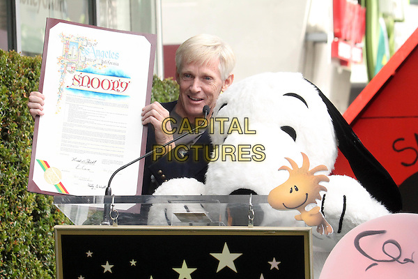 HOLLYWOOD, CA - NOVEMBER 2: Craig Schulz, Snoopy at the Snoopy Star on the Hollywood Walk of Fame ceremony in Hollywood, California on November 2, 2015. <br /> CAP/MPI//DE<br /> &copy;DE/MPI/Capital Pictures