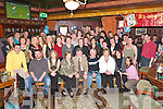 DOUBLE: Friends and family of Tony Darmody, Faha, and Pat Moriarty, Beaufort (seated front centre) celebrated their 60th birthdays in the Killarney Avenue Hotel last Thursday night..