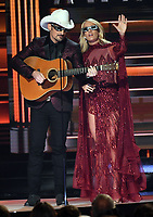 08 November 2017 - Nashville, Tennessee - Brad Paisley, Carrie Underwood. 51st Annual CMA Awards, Country Music's Biggest Night, held at Bridgestone Arena.  <br /> CAP/ADM/LF<br /> &copy;LF/ADM/Capital Pictures