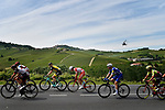 The breakaway group in action during Stage 18 of the 2018 Giro d'Italia, running 196km from Abbiategrasso to Prato Nevoso, Italy. 24th May 2018.<br /> Picture: LaPresse/Fabio Ferrari | Cyclefile<br /> <br /> <br /> All photos usage must carry mandatory copyright credit (&copy; Cyclefile | LaPresse/Fabio Ferrari)