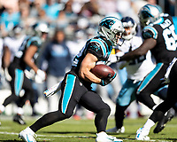 CHARLOTTE, NC - NOVEMBER 3: Christian McCaffrey #22 of the Carolina Panthers during a game between Tennessee Titans and Carolina Panthers at Bank of America Stadium on November 3, 2019 in Charlotte, North Carolina.
