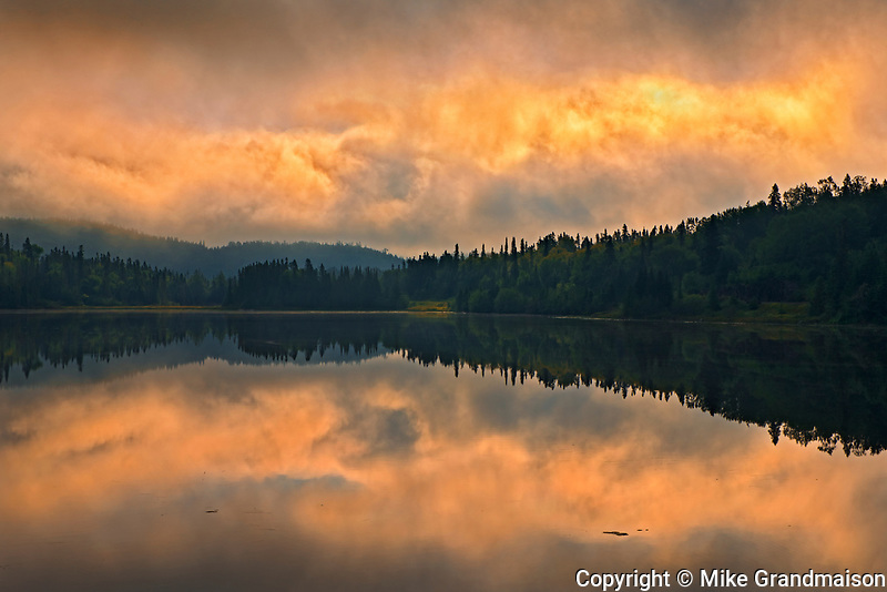 Morning storm light on northern lake<br />