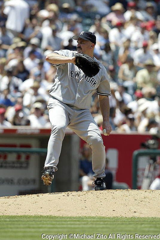 David Wells In a MLB game played at Edison Field, where the NY Yankees defeated the Anaheim Angels 7-5