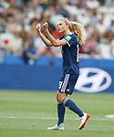 09.06.2019 England v Scotland Women: Claire Emslie celebrates her goal for Scotland