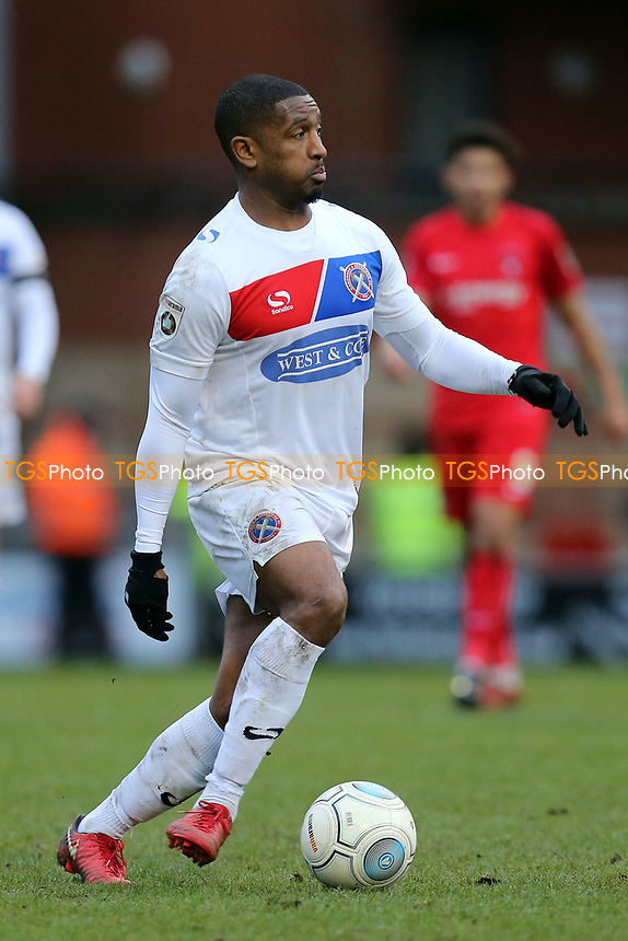 Andre Boucaud of Dagenham during Leyton Orient vs Dagenham & Redbridge, Vanarama National League Football at the Matchroom Stadium on 26th December 2017