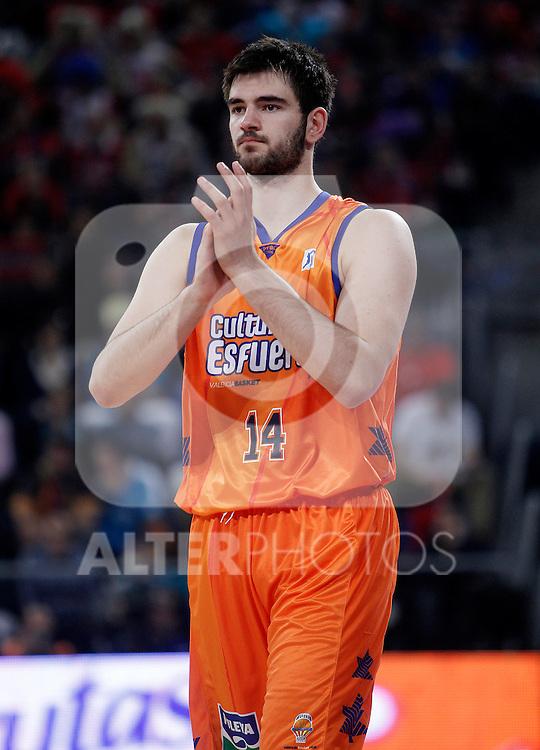 Valencia Basket Club's Bojan Dubljevic during Spanish Basketball King's Cup semifinal match.February 07,2013. (ALTERPHOTOS/Acero)