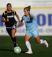 Kacey White (20) of Sky Blue FC. The Los Angeles Sol defeated Sky Blue FC 2-0 during a Women's Professional Soccer match at TD Bank Ballpark in Bridgewater, NJ, on April 5, 2009. Photo by Howard C. Smith/isiphotos.com