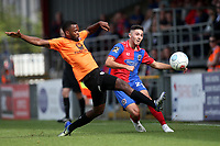 Ollie Harfield of Dagenham and Redbridge and Zavon Hines of Chesterfield during Dagenham & Redbridge vs Chesterfield, Vanarama National League Football at the Chigwell Construction Stadium on 15th September 2018