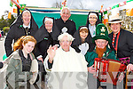 Listry Community Council was welcoming Pope Benedict to his retirement to Killarney at the Killarney Parade n Sunday front row l-r: Laura Whelton, Ted Ahern AKA Pope Benedict who has retired to Killarney House, Michael F O'Connor,. Back row: Helen O'Sullivan, Breda O'Shea,,Ted Scannell, Nora Mai Brosnan, Michelle O'Sullivan, Fiona Whelton..