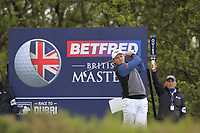 Eddie Pepperell (ENG) on the 3rd tee during Round 2 of the Betfred British Masters 2019 at Hillside Golf Club, Southport, Lancashire, England. 10/05/19<br /> <br /> Picture: Thos Caffrey / Golffile<br /> <br /> All photos usage must carry mandatory copyright credit (&copy; Golffile | Thos Caffrey)