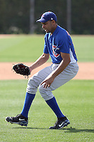 Polin Trinidad of the Chicago Cubs participates in spring training workouts at the Cubs complex on March 6, 2011  in Mesa, Arizona. .Photo by:  Bill Mitchell/Four Seam Images.